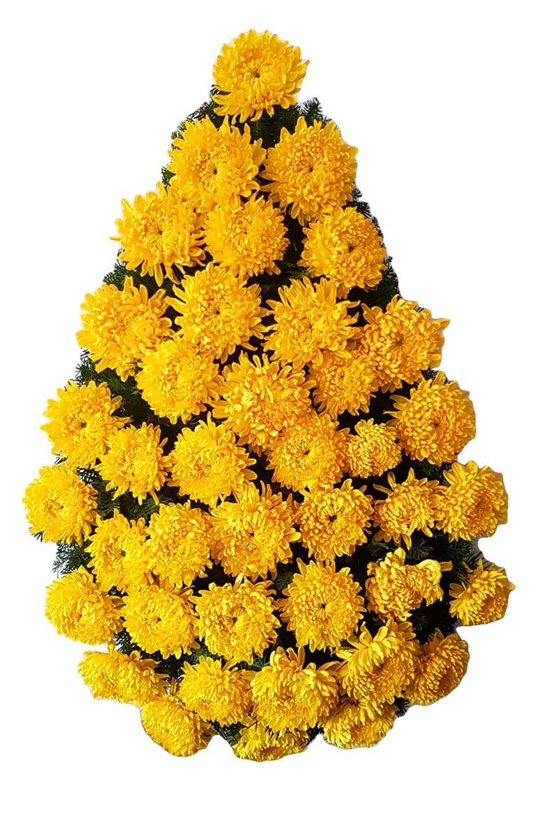 Coroana funerara Constanta din Crizanteme galbene